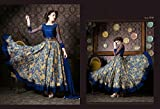 INDIAN WESTERN DESIGNER PARTY WEAR ANARKALI SALWAR KAMEEZ SUIT PARTY WEAR BRIDAL WEDDING
