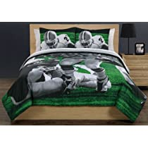 Football Running Back Photoreal Twin Quilt & Sham Set