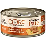 Wellness CORE Natural Grain Free Wet Canned Cat Food, Chicken & Turkey, 5.5-Ounce Can