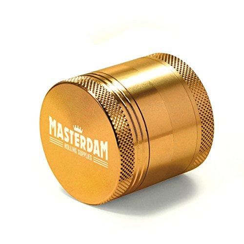 Masterdam-Grinders-Compact-16-Inch-Herb-Grinder-with-Pollen-Catcher-4-Piece-Gold-Aluminum