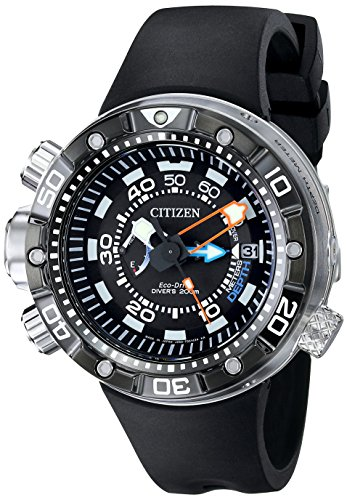 Citizen Men's BN2029-01E Promaster Aqualand Depth Meter Analog Display Japanese Quartz Black Watch