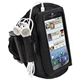 IGadgitz Water Resistant Neoprene Sports Gym Jogging Armband for Motorola Defy MB525 - Black