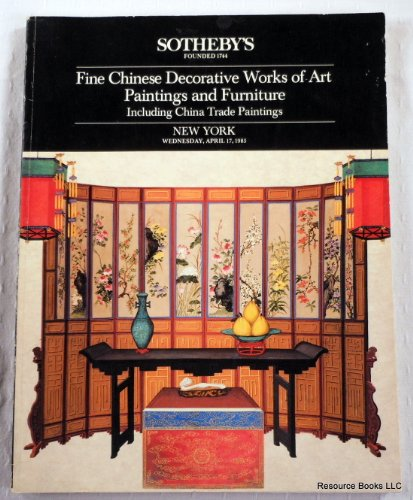 Fine Chinese Decorative Works of Art, Paintings and Furniture, Including China Trade Paintings. Sotheby's New York: April 17, 1985 - Sale 5309 SUZHOU (Sotheby Chinese Painting compare prices)