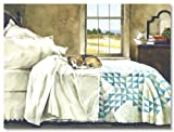 Home Alone Dog on Bed in Master Bedroom Beagle by John Rossini Art Print 24x18 Reviews