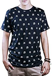 #OOTD Men's Cotton T-Shirt (Navy Blue, 40)