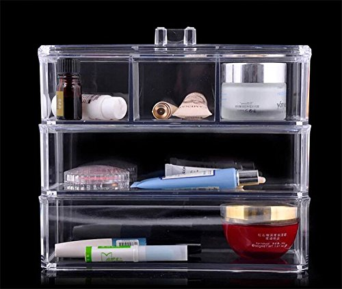 Clear acrylic makeup organizer jewelry cosmetic storage for Bathroom vanity display for sale