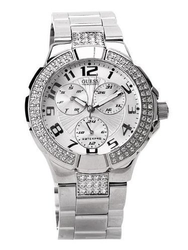 Guess Silver Prism Crystalized Ladies Watch G12557L