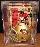San Francisco 49ers NFL Helmet Shadowbox w/ Jerry Rice card