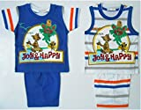 Bubbles Fancy Tom and Jerry Dress Set of 4 Pc (3-6 months, BLUE)