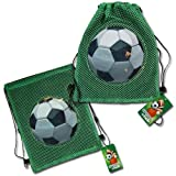 (12 Count) SOCCER Sling Party Favor Goodie Bag - Favors - ALL QUANTITIES AVAILABLE!