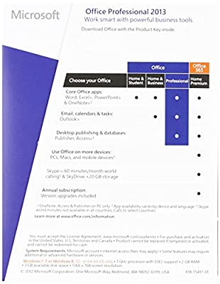 Microsoft Office Professional 2013 (1PC/1User)