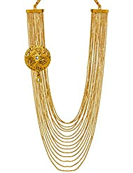 Bindhani Kundan Antique Gold Plated South Indian Multi-Strand Necklace For Women & Girls