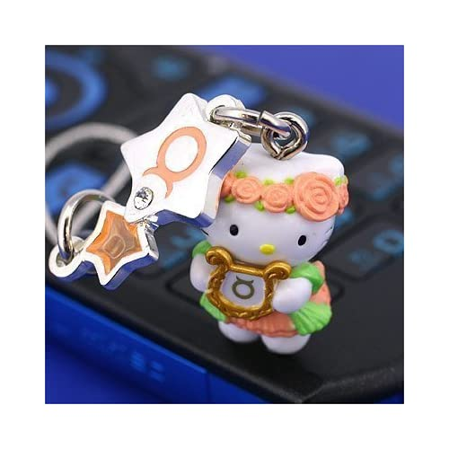 Sanrio Hello Kitty Astrologic Venus Star Charm Cell Phone Strap (Taurus)   Japanese Import ***Free Domestic Standard Shipping for This Item***