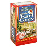 Celestial Seasonings Black Tea, Victorian Earl Grey, Tea Bags, 20-Count Boxes (Pack of 6) ~ Celestial Seasonings