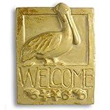 Pelican Craftsman-Style Ceramic Clay Welcome Plaque, 9