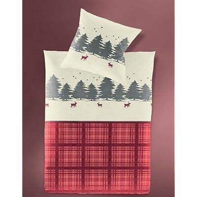 weihnachtsbettw sche biber elch rentier bettw sche 135x200. Black Bedroom Furniture Sets. Home Design Ideas