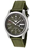 Seiko Mens SNK805 Seiko 5 Automatic Green Canvas Strap Casual Watch