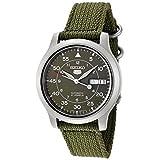 Seiko Men's SNK805K2 Automatic Green Dial Green Fabric Strap Watchby Seiko
