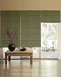 PRESTO BAZAAR 1 Piece Polyester Geometrical Blind - Green