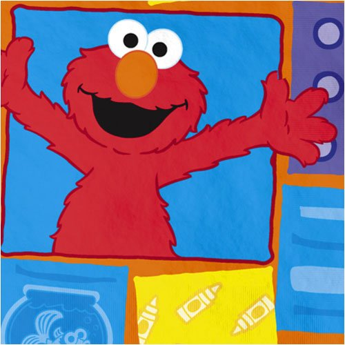 Elmo Loves You Beverage Napkins - 16 Count