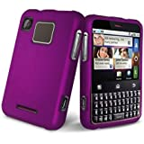 Purple Rubberized Hard Case Phone Protector Cover for Motorola Charm MB502  ....