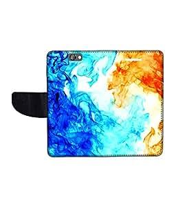 KolorEdge Printed Flip Cover For HTC One A9 Multicolor - (1478-50KeMLogo11957HTCA9)