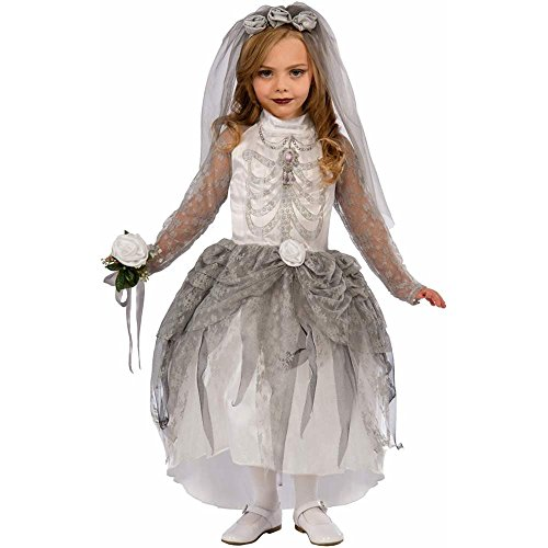 Skeleton Ghost Bride Kids Costume