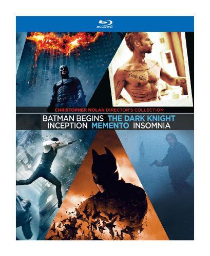 Christopher Nolan Directors Collection Memento Insomnia Batman Begins The Dark Knight Inception Blu-ray at Gotham City Store