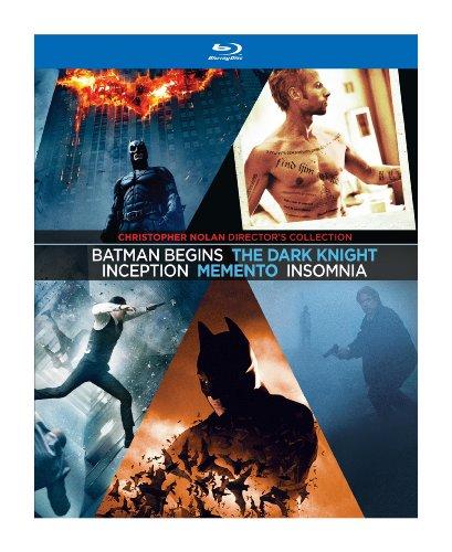 Christopher Nolan Directors Collection Memento Insomnia Batman Begins The Dark Knight Inception Blu-ray at Gotham City Store