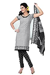 Riddhi Dresses Women's Cotton Unstitched Dress Material (Riddhi Dresses 86_Multi Coloured_Free Size)