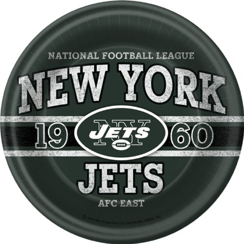 New York Jets Dinner Plates (8 per package) [Toy]