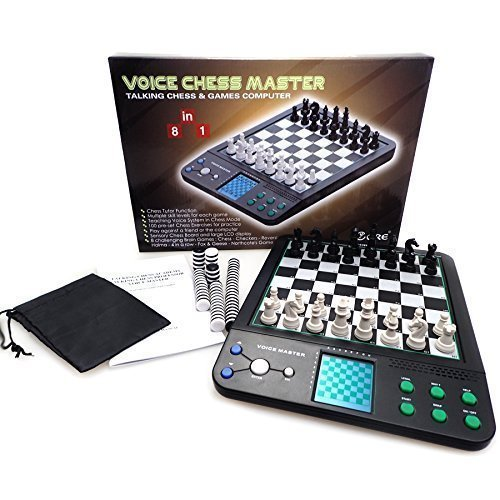 Chess Checkers Set Chess Master Talking Chess Games 8 in 1 with 100 Program Practice - icore (Electronic Chess Set compare prices)