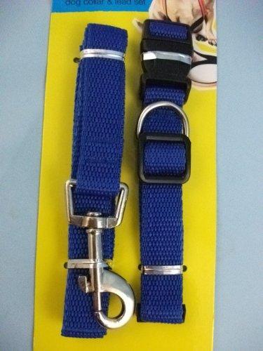 Artikelbild: Blau Farbe Gurtband, PET Hundeleine und Halsband Set WP380blau