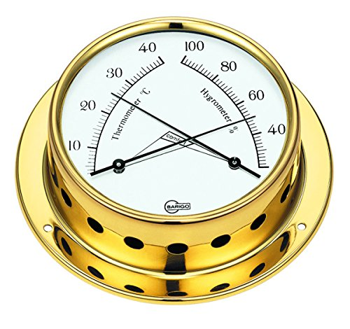 Barigo Comfortmeter thermo / Hygrometer mit Comfortzonenanzeige, gold Picture