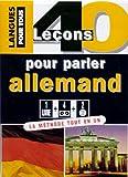 echange, troc Jean-Pierre Vernon, Wolfram Klatt - 40 leçons pour parler allemand (coffret 1 livre, 4 cassettes audio et 2 CD)