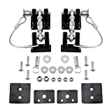 Astra Depot 2pcs Aluminum Locking Hood Look Catch Latches Buckle Brackets with 2 Keys Kit Compatible for 2007-2017 Jeep Wrangler JK/Unlimited