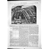 工学 Blackfriars 橋 Centreing のアーチ 3 1876 の車軸軸受けプレストン