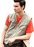 Alipolo Mens Cotton Oversize Pockets Outdoor Field Quick Dry Fishing Vest
