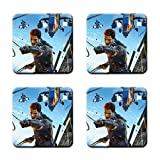 Just Cause 3 Just Cause Rico Rodriguez Custom Square Coaster (4 Piece) Stylish, Durable Cork Pad Anti Skid Mat Stain Resistance
