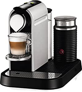 Nespresso CitiZ D120 Espresso Maker with Aeroccino Milk Frother, Aluminum