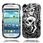 Urby® Samsung Galaxy S 3 mini Skull Wings Rubberized Cover with Universal Strap(Lanyard) as Free Gift