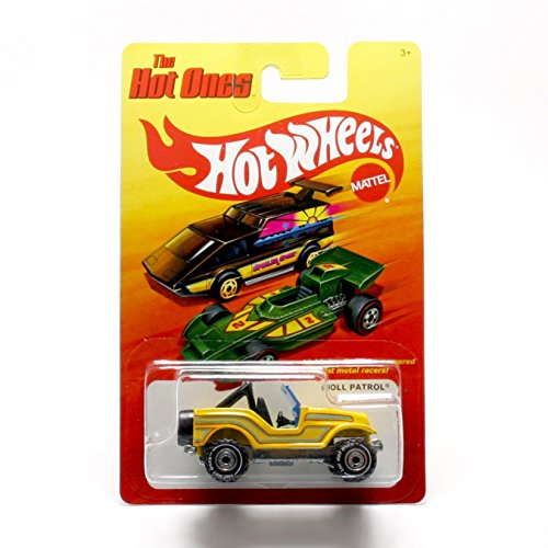 "ROLL PATROL (CHASE PIECE - LIMITED EDITION ""THE HOT ONES"" TIRES) * The Hot Ones * 2011 Release of the 80's Classic Series - 1:64 Scale Throw Back HOT WHEELS Die-Cast Vehicle"
