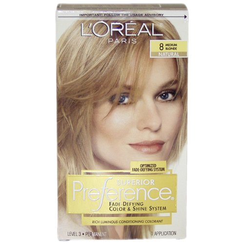 L'Oreal Paris Superior Preference Color Care System, Medium Blonde 8
