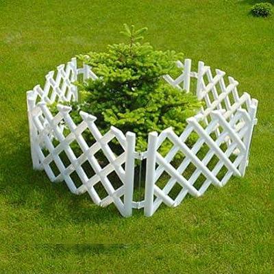 3.5 m long plastic garden picket fence, 4 colours