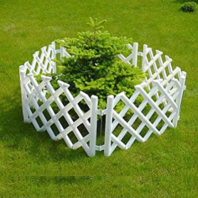 Plastic picket fence, 3.5 m long, green, white, brown or terracotta OGD111
