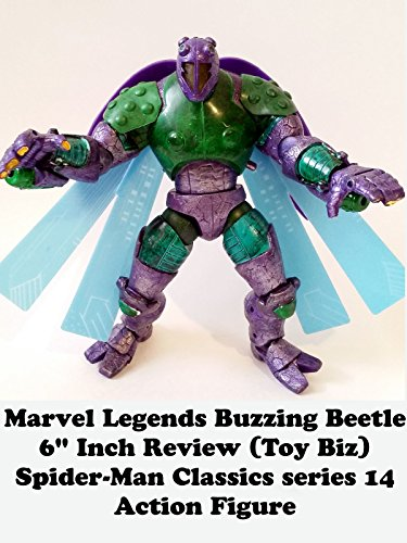 "Marvel Legends Buzzing BEETLE 6"" inch Review (Toy Biz) Spider-Man Classics series 14 action figure"