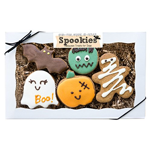 Halloween Dog Treats, Organic and Grain-Free Dog Cookies made in the USA