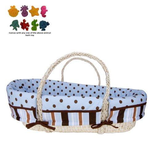 Moses Basket Set - Max & Purchasecorner Toy Bundle front-256747