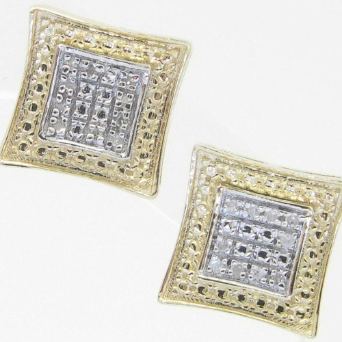 Mens 925 Sterling Silver earrings fancy stud hoops huggie ball fashion dangle white small outline square pave earrings2