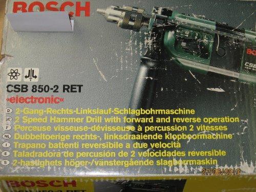 """BOSCH Schlagbohrmaschine CSB 850-2 RET """"electronic"""" 2-Gang-Rechts-Linkslauf, 850 Watt, Artikel-Nr. 0 603 148 903"""
